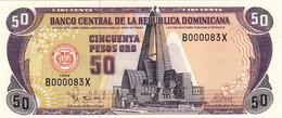 "Dominican Republic 50 Pesos 1998 UNC P-155b ""free Shipping Via Registered Air Mail"" - Dominicana"