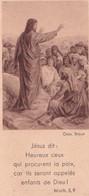 Souvenir De Confirmation - Années 50 - Jésus Dit : Heureux Ceux ... Parole D'Evangile - Imágenes Religiosas