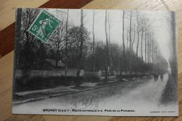 Cpa Brunoy Route Nationale Parc De La Pyramide 1913 - TAZ03 - Brunoy
