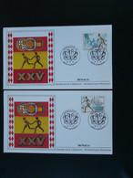FDC (x2) Jeux Olympiques Barcelona 1992 Olympic Games Monaco Ref 738 - Verano 1992: Barcelona