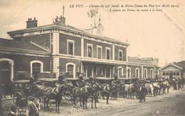 H1608 - Clôture Du 27e Jubilé De Notre Dame Du PUY - D43 - L' Attente Des Trains Du Matin à Le Gare - Le Puy En Velay