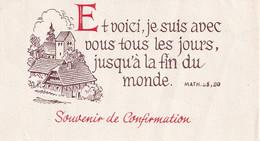 Souvenir De Confirmation - 20/05/1945 - Et Voici , Je Suis Avec Vous Tous Les Jours ... - Imágenes Religiosas