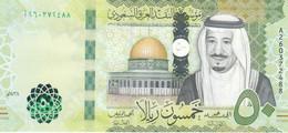 SAUDI ARABIA  50 RIYAL 2017 1438 P-40b UNC */* - Saudi Arabia