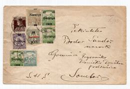 1921 KINGDOM OF SHS,SERBIA,HUNGARY,BARANJA TO SOMBOR COVER - Covers & Documents
