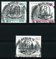 BERLIN 1978 Nr 578-580 Zentrisch Gestempelt X61EB8A - Used Stamps