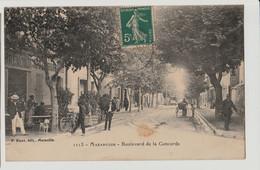 13 CPA  MARSEILLE Mazargues - Boulevard De La Concorde – 1113-ED RUAT  PEU CONNUE ANIMEE AVEC CHIEN CIRCULEE - Quatieri Sud, Mazarques, Bonneveine, Pointe Rouge, Calanques