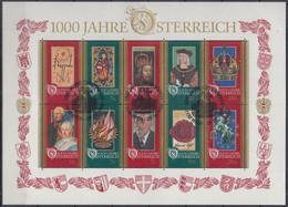 ÖSTERREICH  Block 12, Gestempelt, 1000 Jahre Österreich, 1996 - Blokken & Velletjes