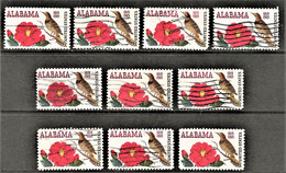 United States - Scott #1375 Used - 10 Different (1) - Plate Blocks & Sheetlets