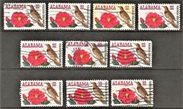 United States - Scott #1375 Used - 10 Different (2) - Plate Blocks & Sheetlets