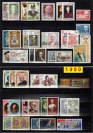 Europa CEPT 1980 Annata COMPLETA 67 Fbolli Nuovi **/MNH - Full Years