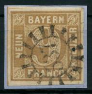 BAYERN MÜHLRADSTEMPEL AUF Nr 11 GMR 537 Zentrisch Gestempelt X8803B2 - Bavaria