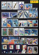 Europa CEPT 1991 Annata COMPLETA 82 Fbolli + 2 Foglietti Nuovi **/MNH - Años Completos