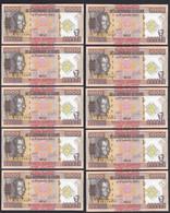 Guinea - Guinee 10 Stück á 1000 Francs 2010 Pick 43 UNC (1)  (89132 - Other - Africa