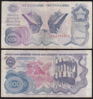 Jugoslawien - Yugoslavia 500-tausend Dinara 1989 Pick 98a F (4)  26369 - Yugoslavia