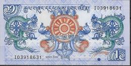BHUTAN  UNC  1 NGULTRUM  2006  PREFIX I - Bhutan