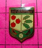 810G Pin's Pins / Beau Et Rare / THEME : SPORTS / GOLF DE MORMAL BLASON POMME FEUILLES DE CHENE - Golf
