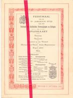 Menu - Brugge , Feestmaal Verbond Katholieke Kringen - 1928 , Tweetalig Verso - Menus