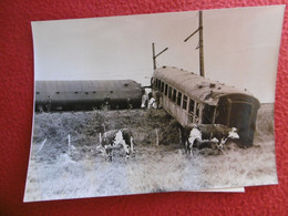 NOGENT LE ROTROU TRAIN ROSCOFF PARIS ACCIDENT FERROVIAIRE 1961 PHOTO 18 X 13 Cm - Treni