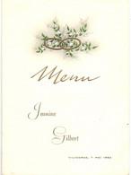 Menu - Vilvoorde - Huwelijk Jeanine X Gilbert - 1962 - Menus