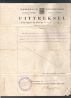 GEMEENTE WOLVERTHEM - UITTREKSEL UIT HET REGISTER DER AKTEN VAN GEBOORTE VOOR HET JAAR 1863- DD 10.8.1921 (OD 105) - Programs