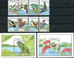 Dominica 1990 Fauna Birds Set+s/s MNH - Otros