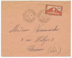 ALGERIE ENV LETTRE 1942 CONSTANTINE CACHET DE L EXPOSITION PHILATELIQUE LETTRE TIMBRE SURTAXE - Covers & Documents