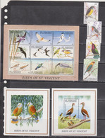 St Vincent And Grenadines 1996 Fauna Birds Set+klb+2s/s MNH - Otros