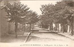 Cpa De Marseille IXe, Sainte-Marguerite, Boulevard De L'Eglise, éd. EL 475, Dos Vierge, Bon état - Altri