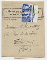 MERCURE 10C REPUBLIQUEX2 BANDE COMPLETE AMIENS 1942 AU TARIF - 1938-42 Mercurio