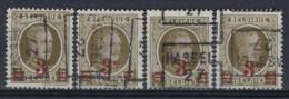 HOUYOUX Nr. 245 Voorafgestempeld Nr. 4034 A + B + C + D  HASSELT 27 ; staat Zie Scan ! - Roller Precancels 1920-29