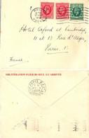 GREAT BRITAIN HULL OMec FRANKERS 7 LIGNES ONDULÉES Du 27 MAY 1936 + VERSO FLIER 1 PARIS R.P.  1 DISTRIBon BD SEUL - Postmark Collection