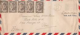 CANADA AFFRANCHISSEMENT COMPOSE SUR LETTRE DE AMOS POUR LA FRANCE 1939 - Lettres & Documents