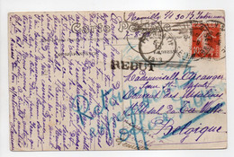 - Carte Postale NEUILLY-SUR-SEINE Pour TERNATH (Belgique) 1913 - MISE AU REBUT - A étudier - - Lettres & Documents