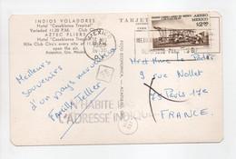 - Carte Postale MEXICO Pour PARIS 15.8.1968 - Bel Affranchissement Philatélique - A étudier - - Mexique