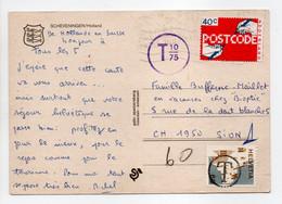 - Carte Postale LA HAYE (Pays-Bas) Pour SION (Suisse) 5.7.1979 - TAXÉE 10/75 - A étudier - - Lettres & Documents