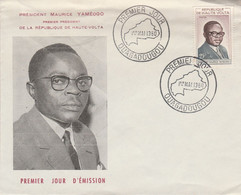 HAUTE VOLTA FDC 1960 PRESIDENT YAMEOGO - Upper Volta (1958-1984)