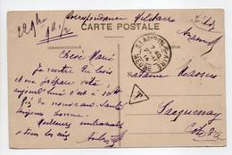 - Carte Postale SAINT-AUBIN-SUR-AIRE (Meuse) Pour SACQUENAY (Côte-d'Or) 22.11.1914 - CORRESPONDANCE MILITAIRE TAXÉE - - 1859-1955 Lettres & Documents