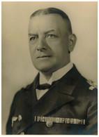 Orig. XXL Foto Porträt Wehrmacht Offizier ? Bandspange Marine Offizier ? Ehrenblattspange Kriegsmarine ? 30 X 24 Cm - 1939-45