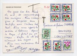- Carte Postale LES ARCS (Var) Pour DOUSSAY / LENCLOITRE (Vienne) 12.8.1982 - TAXÉE 4 F. 20 Type Fleurs Des Champs - - 1960-.... Lettres & Documents