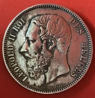 ZILVER - ARGENT - LEOPOLD II - BELGIQUE - 1876 - 09. 5 Francos
