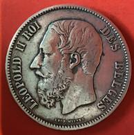 ZILVER - ARGENT - LEOPOLD II - BELGIQUE - 1869 - 09. 5 Francos