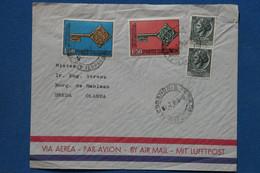 Z17 ITALIA  BELLE LETTRE    1968  ALESSANDRIA POUR  BREDA NEDERLAND+VIGNETTE ET PAIRE DE T.P  + AFFRANCH. INTERESSANT - 1961-70: Poststempel