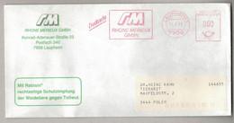 "NB71   GERMANY 1991 "" RM RHONE MERIEUX "" Veterinary Pharmaceutic EMA, Red Meter, Freistempel - Pharmacy"