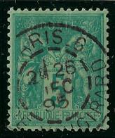 FRANCE Classique: Le Y&T 75, Ni Pli Ni Aminci, TB Obl. CAD Paris - 1876-1898 Sage (Tipo II)