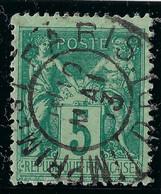 FRANCE Classique: Le Y&T 75, Ni Pli Ni Aminci, TB Obl. CAD Paris-Imprimés - 1876-1898 Sage (Tipo II)