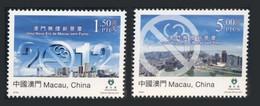 Macao Macau 2012 Yvert 1569/1570 ** A New Era Of Smoke-free Macao - No Smoking - Lutte Contre Le Tabac - Blocks & Sheetlets