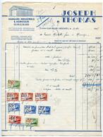 HAM-SUR-HEURE (Beignée) - Joseph Thomas, 1947 - Timbres Fiscaux, Envoi à Michotte Frères à Manage (Nalinnes Charleroi) - 1900 – 1949