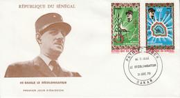 SENEGAL FDC 1970 CHARLES DE GAULLE - Senegal (1960-...)