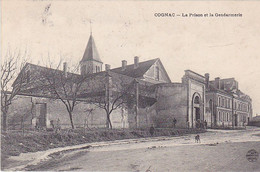 BE17-   COGNAC  EN CHARENTE  LA PRISON ET LA GENDARMERIE  CARTE  CIRCULEE - Cognac
