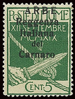 ITALY ITALIA ARBE 1920 5 CENT. (Sass. 5) NUOVO LINGUELLATO * OFFERTA! - Arbe & Veglia